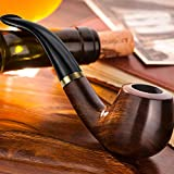 Scotte® – Pipe à tabac en ébène avec filtre 9 mm