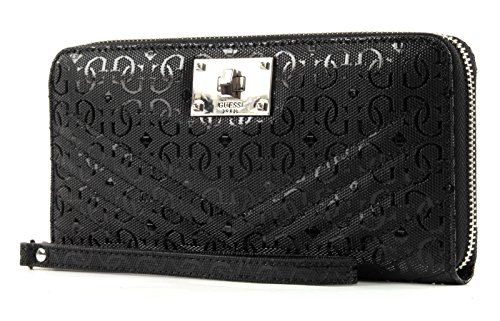 GUESS Halley SLG Large Zip Around - Noir - Taille Unique