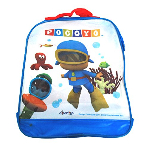 Childrens TV Show Character Licensed Transparent Clear Swim Beach Travel Sports Bag Range Girls Boys & Unisex Designs (Pocoyo)
