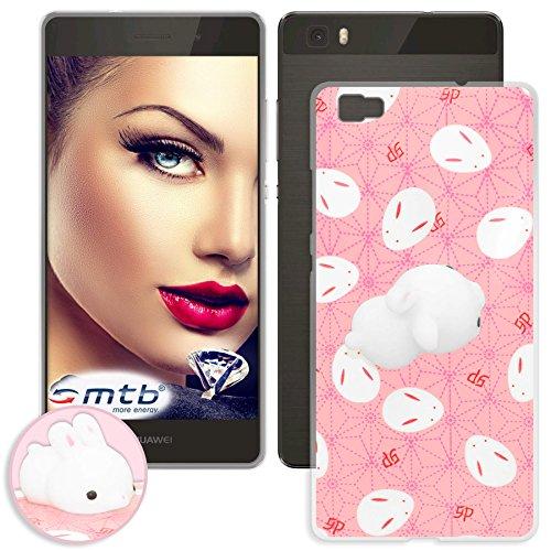 mtb more energy® Schutz-Hülle Squishy 3D für Huawei P8 Lite (ALE-L21 / 5.0'') | Hase | TPU Case Cover Tasche