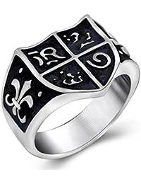 BOBIJOO Jewelry - Chevalière Bague Esprit Jeanne d arc Royalisme Fleur Lys  Templier Symbole Ancien b6bc040fc839