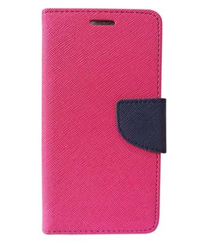 Sparkling Trends Fancy Diary Wallet Flip Cover Case for HTC Desire 628 Pink