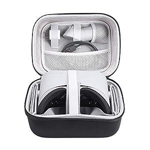 Hard Eva Travel Case für Oculus Go Virtual Reality Headset und Controllern Zubehör Tragetasche Schutzhülle Aufbewahrungsbox, Black+Gray
