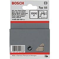 Bosch 2 609 200 291 - Grapa de alambre fino tipo 53-11,4 x 0,74 x 4 mm (pack de 1000)