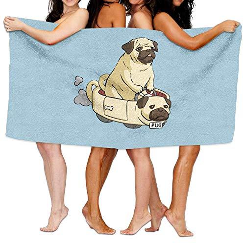 ving A Pug Car Beach Towels Ultra Absorbent Microfiber Bath Towel Picnic Mat for Men Women Kids Unique Pattern Design ()