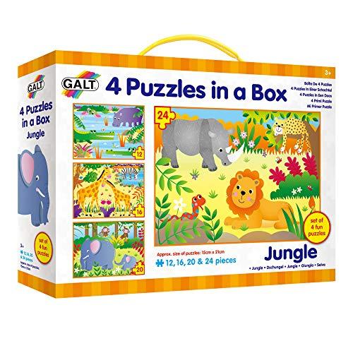 4 puzzles progresivos 4 Puzzles in a Box Jungle por sólo 3,24€ ¡¡75% de descuento!!