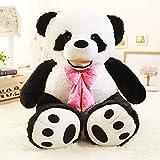 VERCART Giant Panda Plüschtier mit Krawatte Kind Spielzeug Geburtstagsgeschenk 160cm