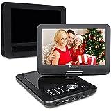 """10,1"""" HD Tragbarer DVD Player 5 Stunden Akku NAVISKAUTO Auto Ferseher Kopfstütze Monitor Media Video DVD-Player Kopfstützenhalterung SD/USB AV IN/OUT PD1001"""