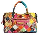 S-Kiven Multicolor Patchwork en cuir véritable sac à main épaule Sac bandoulière sac sac hobo