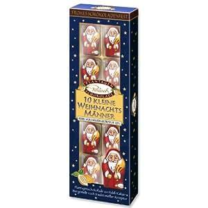 Rausch Plantagen-Schokolade 10 Kleine Weihnachtsmänner in Edel-Vollmilch Schokolade 797102 , (2 x 100 g), Kakao: 32 %