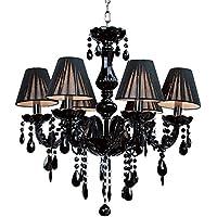 Candelabro De Cristal Negro Velas Lámpara Soporte(No Incluir La Fuente De Luz)6 Candelabro Luz Por Aiwen