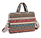 Best kayond Messenger Bags - KAYOND Red Bohemia Patten Canvas Laptop Shoulder Messenger Review