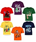 #10: Kiddeo Kids boys t shirts(new 01) (pack of 6)