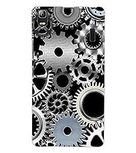ColourCraft Clock Locks Design Back Case Cover for LENOVO A7000 TURBO