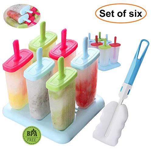 Eis Lolly Mould, outgeek Wiederverwendbare Standard Form Popsicle Formen für Kinder DIY Eismaschine, BPA frei mit praktischen Deckel und Base