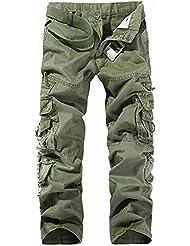 iBaste Yardas grandes pantalones de algodón ocasional al aire libre Pantalones militar para hombre