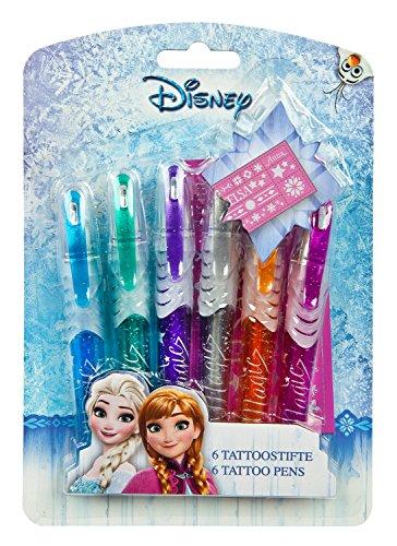 Undercover FRSW3300 - Tattoo Stifte, Disney Frozen, 6 Stück