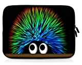 Sidorenko 10,1-10,2 Zoll Tablet Hülle - Tasche aus Neopren, Grün / Schwarz, 42 Designs zur Auswahl