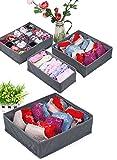 Ardisle - Confezione da 3 con contenitore organizer per cassetti, per calzini, reggiseni, biancheria intima