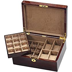 Camphor Burl Wood Gents Valet Box