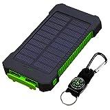 gfjfghfjfh 8000MAH Double USB Banque d'énergie Solaire Taille Portable étanche Chargeur de Batterie Externe Antichoc pour Les téléphones Mobiles