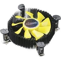 Akasa K25 - Ventilador de CPU (3000 rpm, 33.50 CFM, 28.71 dB), negro y amarillo