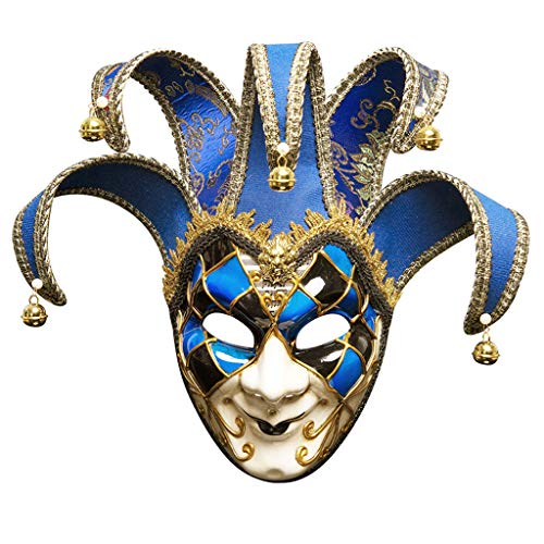 LZY Maske- Handgemalte Herren-Gesichtsmaske Performance-Maske (Farbe : Royal Blue, größe : 16x43cm) (Royal Herren Maske)