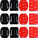 #10: Adhesive Mounts for GoPro Cameras - 3x Curved & 3x Flat Mounts Bundle W/ 3M Sticky Pads - Tape Mount to Your Helmet/Bike/Board/Car - Fits ALL Go Pro Models, HERO4, HERO3+ Black Edition, HERO3, HERO2, HERO1, HD & SJ4000