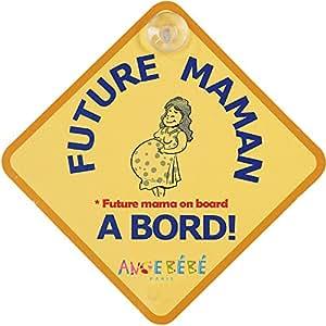Angebébé - Future maman à bord - Future mama on board -sécurité Auto