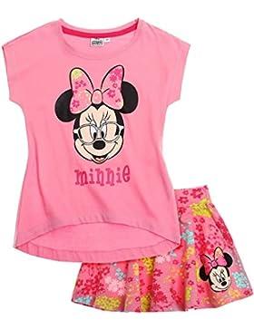 Disney Minnie Mädchen T-Shirt und Rock - pink