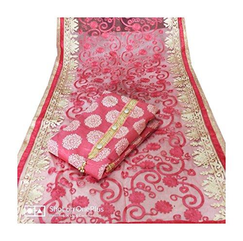 Avni Fashion Top Chanderi Silk with Inner Santoon Bottom Santoon and Dupatta...