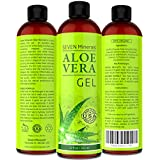 EL MEJOR GEL de Aloe Vera - 99% Orgánico, 355ml - SIN XANTHAN, Se absorbe rápidamente, Sin Residuos - Hecho en EE.UU. - COMPRUEBE RESULTADOS O LE DEVOLVEMOS SU DINERO - Fórmula única con ALGAS. El mejor hidratante para cara, piel y pelo.