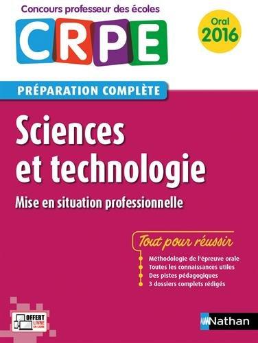 Sciences et technologie - Préparation à l'épreuve orale