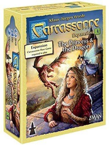 """Z-Man Games Carcassonne 3 """"La Princesa y el dragón (edición en inglés 2016)"""