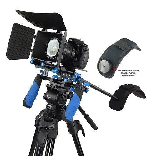 SunSmart Pro DSLR Rig Kit Schulterstativ mit Matte Box und Gegengewicht für alle DSLR-Kameras und Video-Camcorder