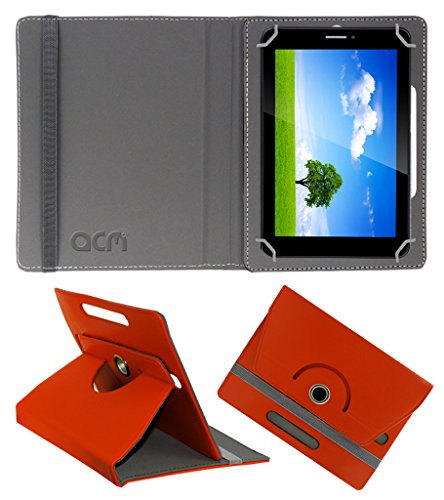 Acm Rotating 360° Leather Flip Case for Iball Slide 6351-Q40 Cover Stand Orange  available at amazon for Rs.149