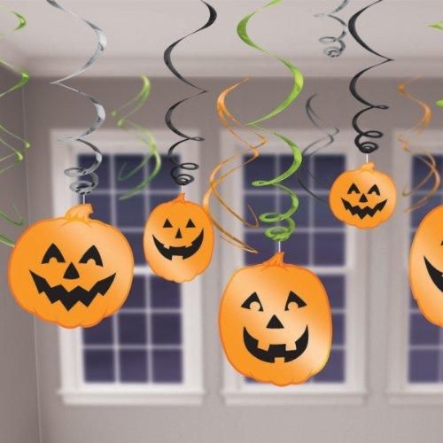 679467Dekoration zum Aufhängen Swirl Halloween Party Set ()