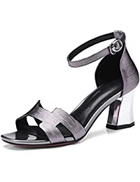 MEI&S Talon Femmes Peep Toe Flip Flop Sandals,Black,40