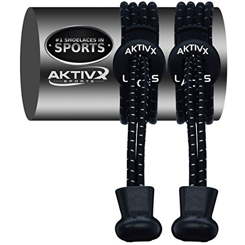 AKTIVX SPORTS Schnürsenkel – Elastische No Tie Schnürsenkel Zum Zuklemmen, Ersatz Schnürsenkel Qw-Black-1 Womens Tennis-schuhe Braun