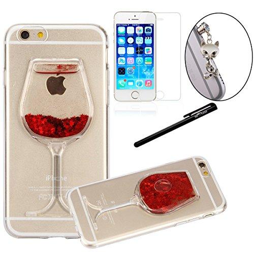 iphone-6s-custodia-welovecase-trasparente-crystal-clear-slim-3d-liquido-4-in-1-soft-gomma-tpu-gel-si