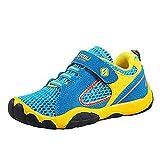 Kinderschuhe Mesh Sportschuhe Ultraleicht Atmungsaktiv Kinder Schuhe Turnschuhe Klettverschluss Low-Top Sneakers Laufen Schuhe Laufschuhe Outdoor Trekking Wanderschuhe für Mädchen Jungen Blau 28