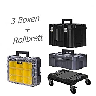 STANLEY FATMAX TSTAK Box III + Box IV + Box V plus Rollbrett