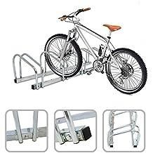 Soporte para 5 bicicletas – Fijación al suelo o a la pared mediante material de acero galvanizado