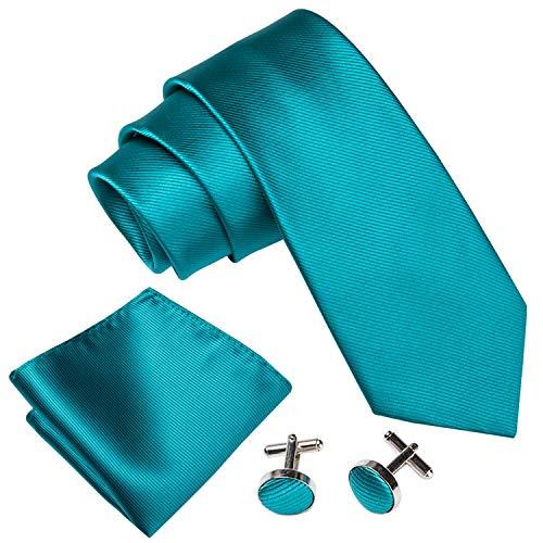 Barry.Wang Herren krawatte seide einfarbig Hochzeit Retro Business Schlips Mit passendem Einstecktuch