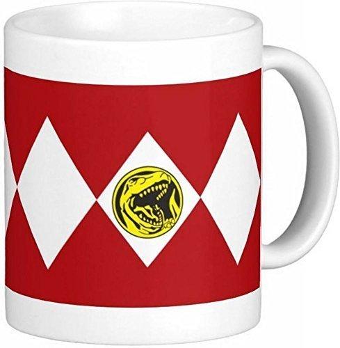11Oz Red Power Ranger Kaffeebecher aus Keramik von Schnell Tassen, 2U