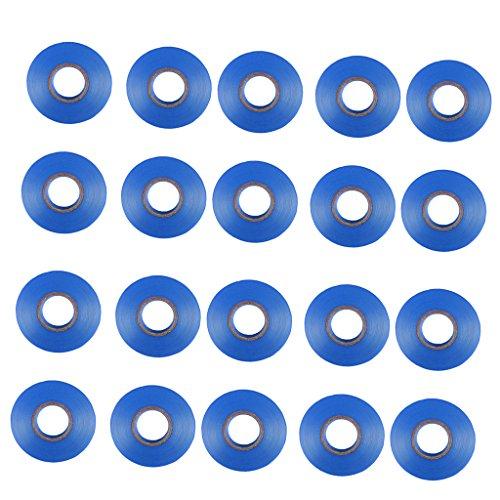 Band Gurke (MagiDeal 20 Stück Bindezange Band Kunststoffband für Bindezange Pflanzbinder Band für Tomaten, Trauben, Gurke und andere Rebenpflanzen - Blau)