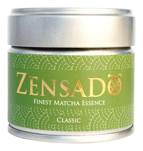 ZENSADO | CLASSIC | FINEST MATCHA ESSENCE | Matcha-Tee-Pulver | Grüntee-Pulver für Matcha-Getränk, Matcha-Smoothies, Matcha-Latte | Premium Qualität aus Japan | 30g