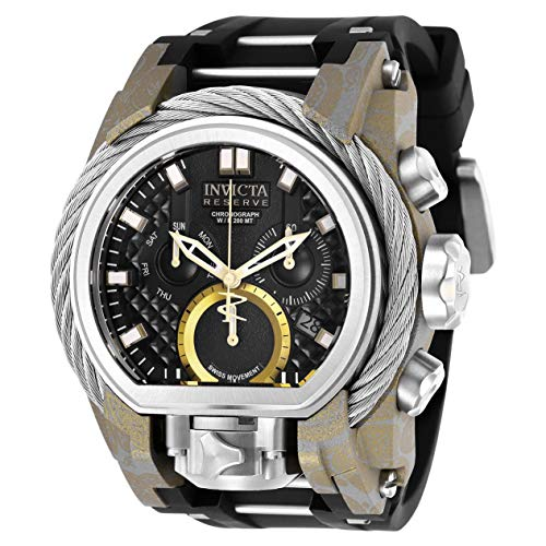Invicta Men's Reserve Polyurethane Band Steel Case Swiss Quartz Watch 26442