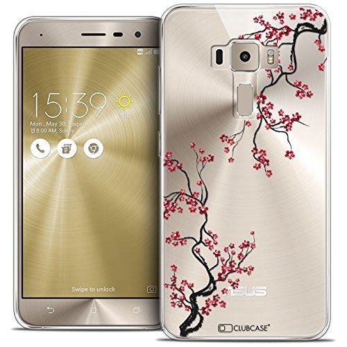 Caseink - Coque Housse Etui Asus Zenfone 3 ZE552KL (5.5 ) [Crystal Gel HD Collection Summer Design Sakura - Souple - Ultra Fin - Imprimé en France]