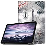 Igemy Ultra Slim Cover Schutzhülle Bumper Lederhülle mit Standfunktion/Auto Sleep Wake up Funktion für Samsung Galaxy Tab A2 10.5 inch T595 (10.5'', E)